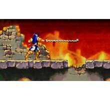 Castle Vania retro painted pixel art Photographic Print