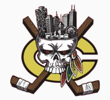 Chicago Blackhawks Skyline by GrimaceGraphics