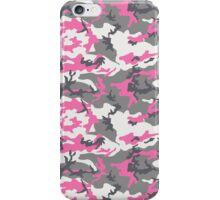 Pink White Gray Camo Pattern iPhone Case/Skin