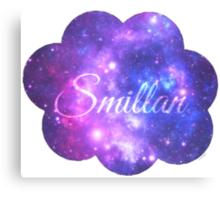 Smillan (Starry Font) Canvas Print