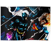 Batman VS Superman Textured Print Poster