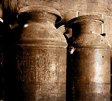 Rusty Milk Cans by KJ DeWaal