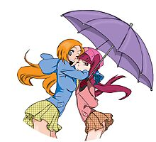 Orihime and Riruka's Rainy Day Photographic Print