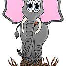 Cute Elephant Cartoon by Graphxpro