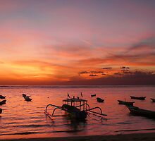 Boats of Lembongan, Indonesia by Cherrybom