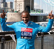 Emmanuel Mutai by Keith Larby