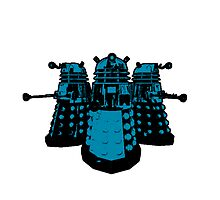 Daleks (Blue) by Cosmodious