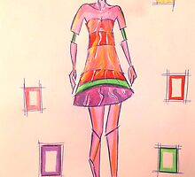 Contemporary Fashion Illustration inspired by Dior 2 by jonkaniafashion