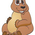 Brown Bear Cartoon by Graphxpro