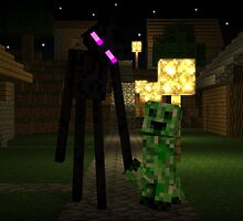 Creeper and Endermen - Minecraft by creeper128
