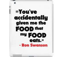 Swanson - The Food That My Food Eats iPad Case/Skin
