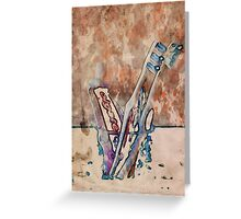 Toothpaste and brushes Greeting Card