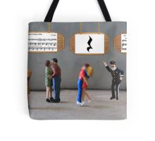 The dancing was uninterrupted until the policeman yelled, 'Stop—you're under a rest'! Tote Bag