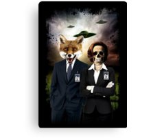 Fox and Skully Canvas Print