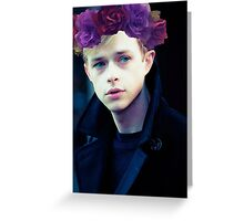 Dane DeHaan and his flower crown Greeting Card