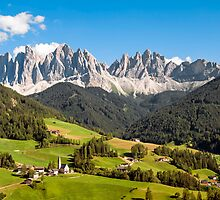 Funes Valley,Dolomites,Italy by canebisca
