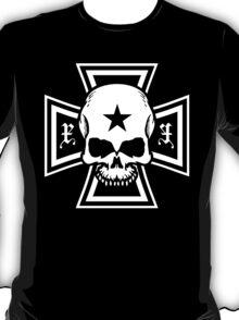 Biker Style Skull and Iron Cross T-Shirt T-Shirt