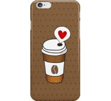 Coffee love iPhone Case/Skin