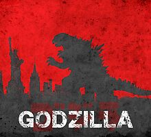 Godzilla  by Watercolorsart