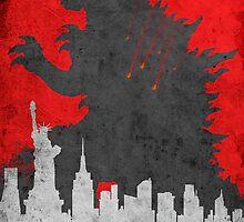 Godzilla 2014 by Watercolorsart