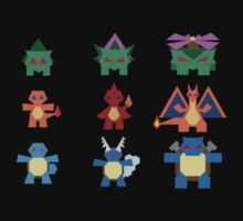 Kanto starter set by Gefemon2