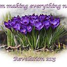 Spring crocuses-Rev. 21:5 by hummingbirds