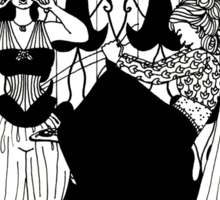 lady with corset Sticker