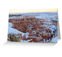 Spectacular Winter Scenery Greeting Card