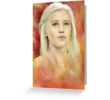Daenerys Targaryen Greeting Card