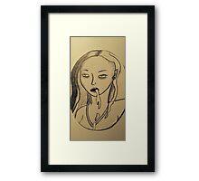 Vomitgirl Framed Print