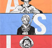 One piece! ASL, Manga! Ace, Sabo, Luffy. by Nomad56641