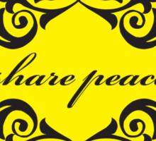 share peace Sticker