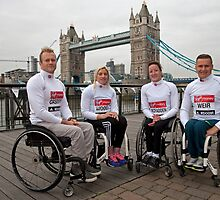 Josh Cassidy, Shelly Woods, Tatyana McFadden, David Weir, by Keith Larby
