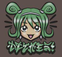 Kawaii Face -Green by DZYNES