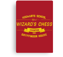 Hogwarts Wizard's Chess Champion — Gryffindor House Canvas Print