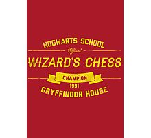 Hogwarts Wizard's Chess Champion — Gryffindor House Photographic Print