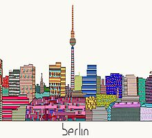 Berlin city skyline  by bri-b