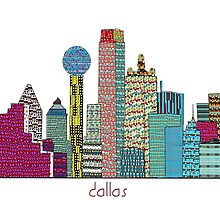 dallas city skyline by bri-b