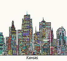 Kansas city skyline by bri-b