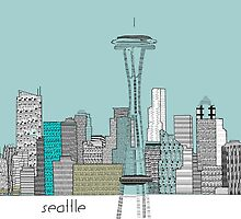 Seattle city skyline blues  by bri-b