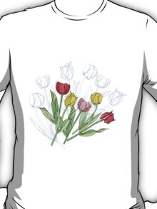 Bouquet with Red Yellow Tulips T-Shirt