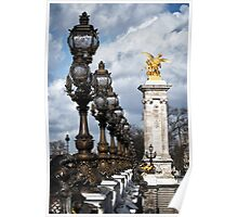 PONT ALEXANDRE III - PARIS Poster