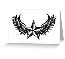 NAUTICAL STAR - Wings - Protection & Guidance SAILORS & TRAVELERS Greeting Card