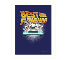 Best Friends - Back To The Future Art Print
