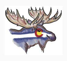 Artistic Colorado flag moose head by artisticattitud