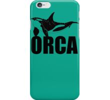 Orca (Black Text) iPhone Case/Skin