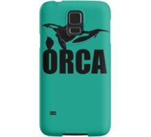 Orca (Black Text) Samsung Galaxy Case/Skin