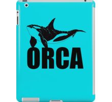 Orca (Black Text) iPad Case/Skin