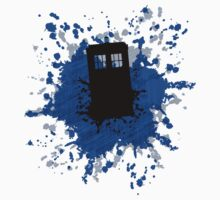 "Doctor Who ""TARDIS Paint Splatter"" Shirt by Owen Yorio"