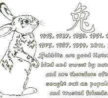 Daily Doodle 17- Zodiac - Chinese Zodiac-Rabbit by ArtbyMinda